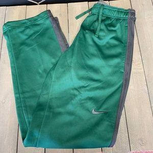 Mens Nike Training Sweatpants Thermafit Team Green